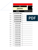 Jerson Schedule's Version 1