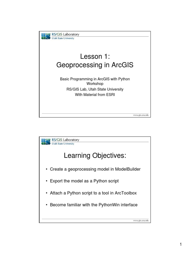Python ArcGIS PowerPoints and Activities | Arc Gis