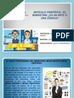 Artículo Científico - El Marketing Es Un Arte o Una Ciencia. Luis Fernandez