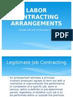 Labor Contracting Arrangements