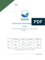 Declaracion Medioambiental de Indra segun EMAS