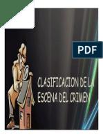 Clasificación de La Escena Del Crimen