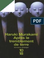 Apres Le Tremblement de Terre Haruki Murakami