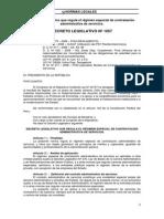 Decreto Legislativo Que Regula El Régimen Especial de Contratación Administrativa de Servicios