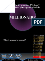 Who Wants to Be a Millionaire - Grammar Review