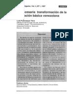 La Necesaria Transformación de La Educación Básica Venezolana