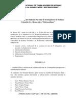 Acta de Fundación Del Sindicato