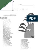Avaliação Portugues IV Unidade