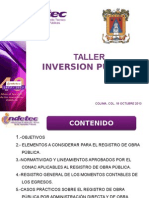 Taller Inversion Publica Indetec Oct13 52619eb5ca3da