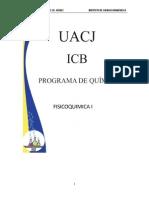 Manual Fisicoquimica I - Dra. Alma Cota