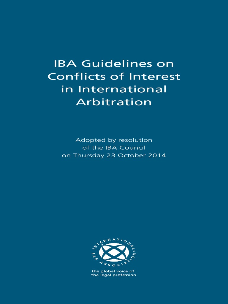 Resultado de imagen de 2014 iba guidelines on conflicts of interest
