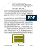 Dual Band E-Shape Microstrip Antenna for GPS Application