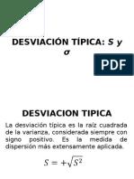 DESVIACION TIPICA