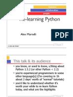 Relearn Python Alex Marteli