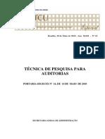 Técnica de Pesquisa Para Auditorias - BTCU-10-2010 (2)