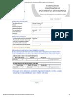 Formulario de Constancia de Documentos Extraviados