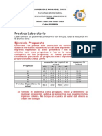 Practica 002 laboratorio investigación operativa