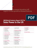 22111E Solar Power in the US Industry Report
