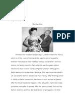 designer report 1 - christian dior