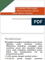 Fentanyl intratekal mencegah menggigil pasca anestesi spinal