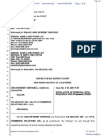 Asis Internet Services v. Valueclick Inc. - Document No. 22