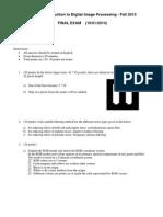 IP Final Exam Solutions