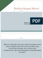5 Interaksi Radiasi Dengan Materi