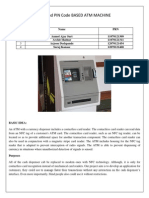 NFC and PIN Code Based ATM Machine
