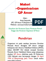 Materi Dasar Keorganisasian GP Ansor