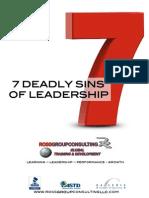 7 Deadly Sins of Leadership