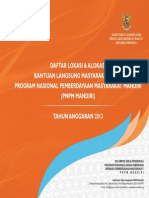 Lokasi&Alokasi PNPM2013 Definitif