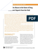 Human Rights Abuses In The Name Of Drug Treatment