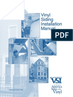 Vinyl Siding Installation Manual
