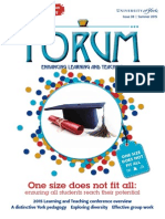 One size does not fit all - UoY Forum 38, Summer 2015