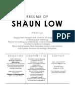 Shaun Low's CV