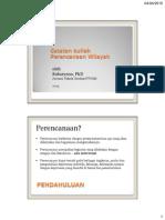 Catatan Kuliah Perencanaan Wilayah 2015