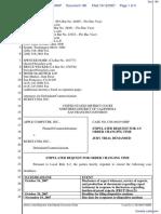 Apple Computer Inc. v. Burst.com, Inc. - Document No. 180