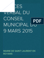 PV du Conseil Municipal du 9 mars 2015