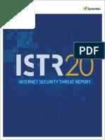 Symantec Internet Security Threat Report Volume 20 2015 Social v2