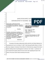Netscape Communications Corporation et al v. Federal Insurance Company et al - Document No. 159