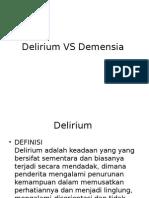 Delirium vs Demensia