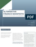 Alternative Finance Manifesto Gli Finance April 2015