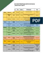 Marsham Street CC Timetable April 2015
