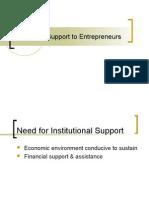 Institutional Support to Entrepreneurs