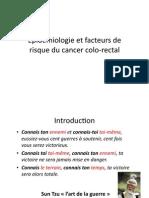 Epidémiologie et facteurs de risque du cancer colo-‐rectal