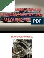 • Determinar El Rendimiento de Una Maquina