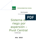 Sistema de Riego Por Aspersión – Pivot Central