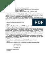 Ordinul Ministrului Justitiei Nr. 199 - 2010