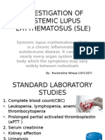 Investigation of Systemic Lupus Erythematosus (Sle)