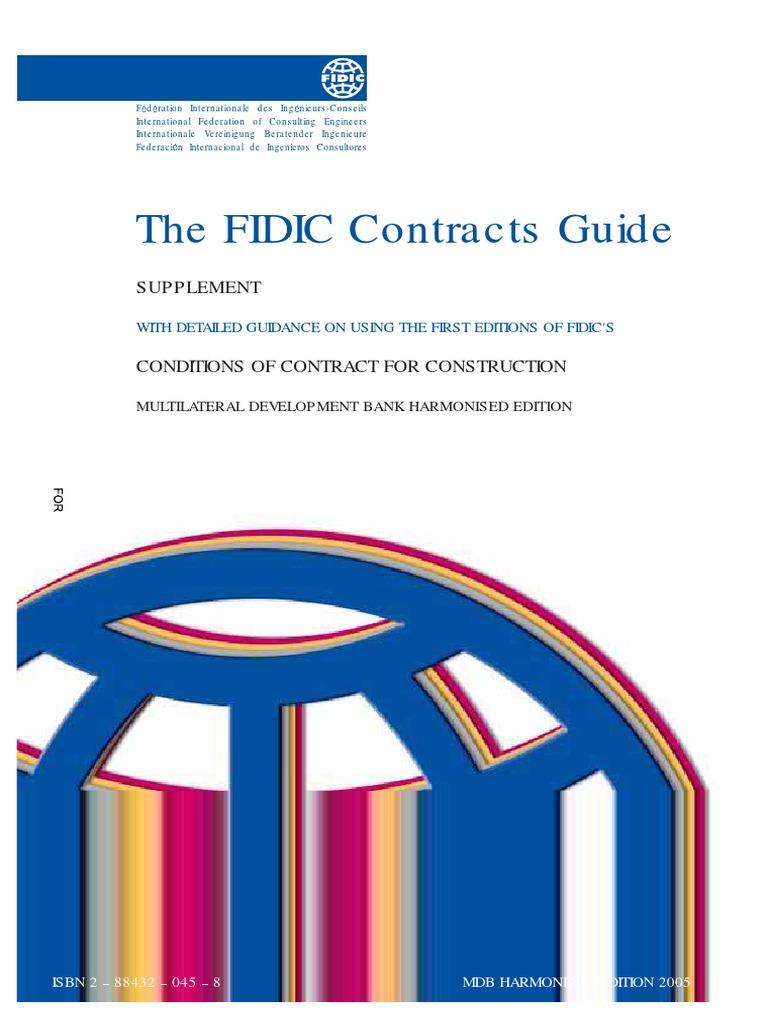 cont guide mdb construction bidding procurement rh scribd com FIDIC Logo Enge FIDIC Logo Enge